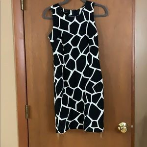 INC black and white dress size 2
